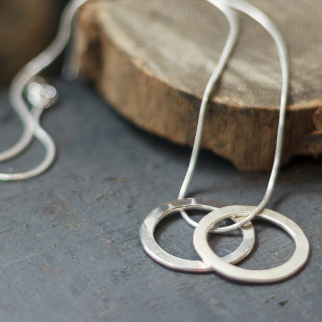 Double loop pendant - small
