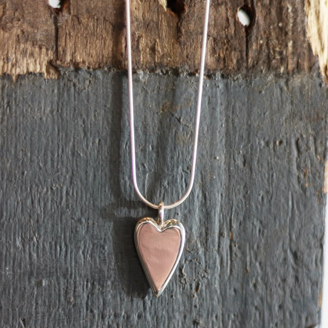 Large quirky heart pendant - large